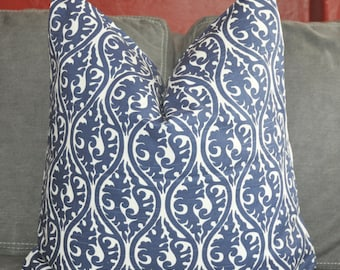 Navy Pillow, Handmade Pillow, Made in USA, Pillow Cover, Decorative Pillow, Throw Pillow, Toss Pillow, Home Furnishing, Home Decor
