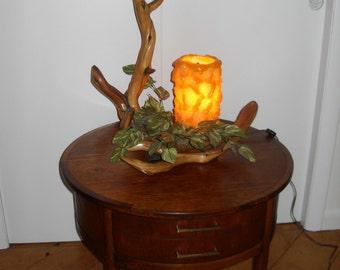 Vintage Mid Century Driftwood table Lamp
