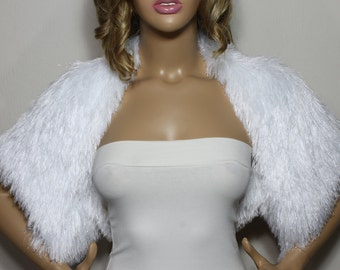 White Bolero, Fur Bolero, Sparkly Bolero, Bridal Bolero, Bridesmaid Bolero, Bridesmaid Gifts, Knit Bolero Short Sleeve Bolero Shrugs Boleros