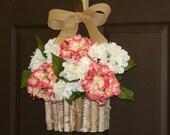 summer wreath, hydrangea wreath, spring wreaths, front door wreath, decorations, spring wreath