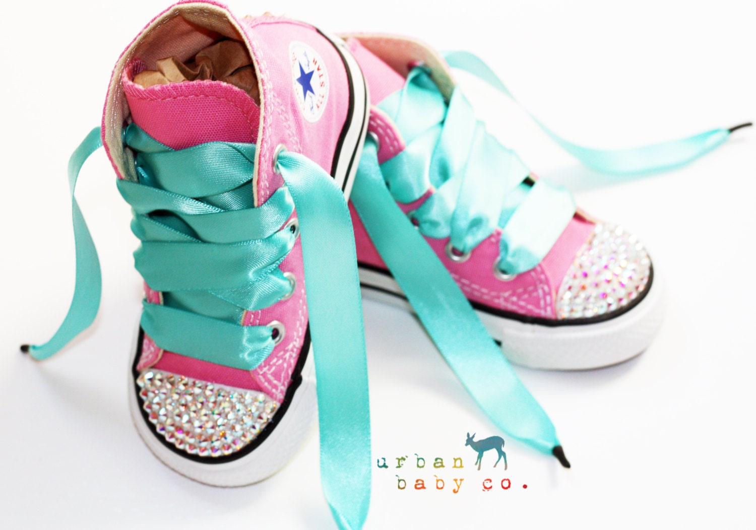 Infant Toddler Baby Girl High Top Pink Converse® All Star®
