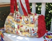 Adorable Red and Yellow Dick and Jane Tote Bag