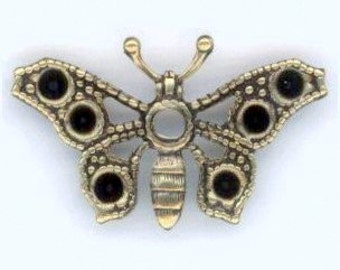 Butterflies to Hold 2mm Pointed Back Rhinestones - Ox Brass, X2