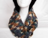 Handmade Crocheted Moebius Infinity Scarf Multicolored