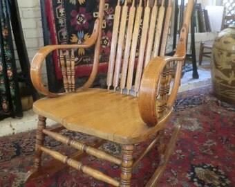 Bentwood Rocker Etsy - Antique bentwood rocker rocking chair