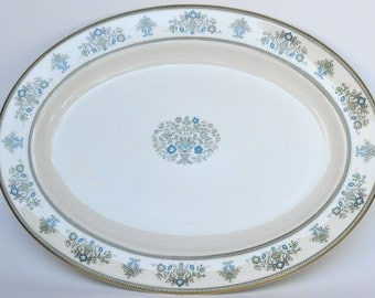 Minton Bone China Large Serving Platter Henley Pattern