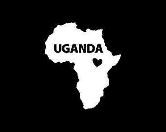Uganda Window Decal