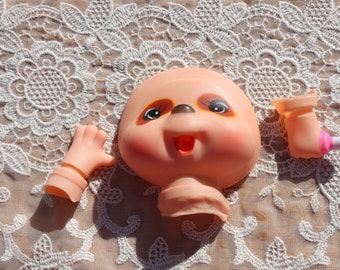 Vintage Rubber Cartoon Animal Plastic Doll Head Face
