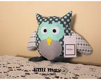 Owl Softie - YOU PICK FABRICS - Non Sensory