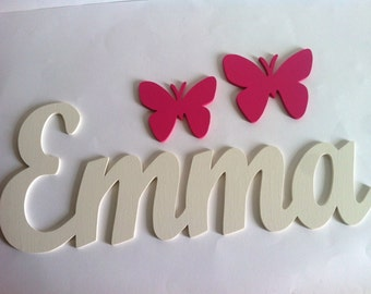 Wooden letters with butterflies custom 0.5