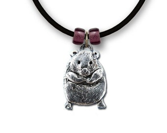 Pewter Large Hamster Necklace