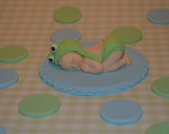 Baby Frog cake toppers set