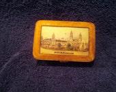 St. Louis World Fair souvenir leather covered box