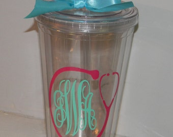 Nurse Gift Personalized  Tumbler 16 ounce  Doctor or Nurse