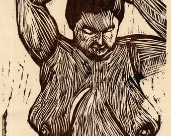 Hand-Pulled Woodcut Morning #2