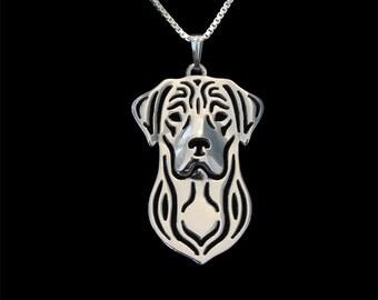 Labrador Retriever - sterling silver pendant and necklace