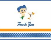 Bubble Guppies Thank You - Digital File
