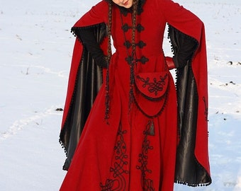 "DISCOUNTED PRICE! Medieval Fantasy Winter Coat ""Queen of Shamakhan"""