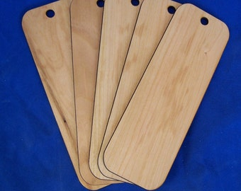 "1"" x 6"" assorted wood bookmarks - Blank - No Engraving or ribbon -  Quantity of 10"