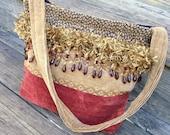 Boho Hippie Bucket Bag Purse Handmade Retro Carpet Bag Gypsy