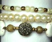 Gold and Champagne Bracelet Set