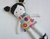 Fabric doll, soft doll, handmade doll, rag doll, cloth doll, softie, plushie, toy