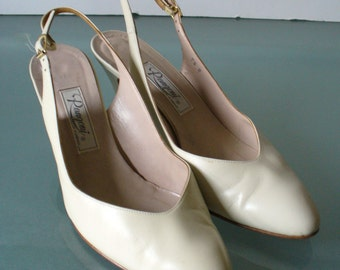 Vintage Made in Italy Rangoni Slingback Pumps