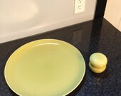 Russel Wright Iroquois 13 inch Avocado Green Chop Plate/Platter
