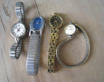 Vintages Watches Parts and Repair Lot of Four