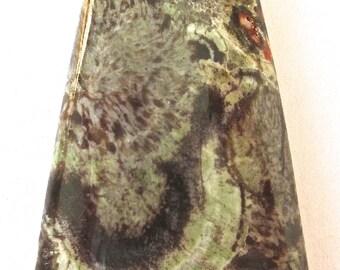 Multi Color Spiderweb Agate Pendant Stone