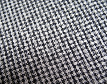 Small Black and White Check Fabric