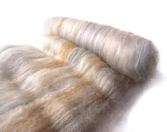 Spinning batts - Merino, Tussah silk, Firestar - 100g/3.5oz - ROCKPOOL