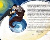 The Night Waltz Ketubah (Modern)