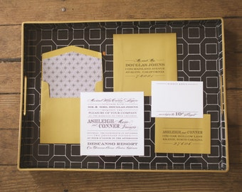 Modern Wedding Invitation, Gold Wedding Invitation, Elegant Wedding Invitations