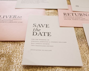 Modern Wedding Save the Date, Wedding Save the Date, Traditional Save the Date