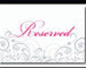 reserved listing for Lorraine