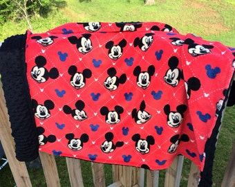 Mickey Mouse minky toddler blanket