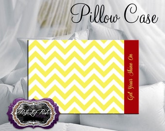 Personalized Chevron Pillowcase
