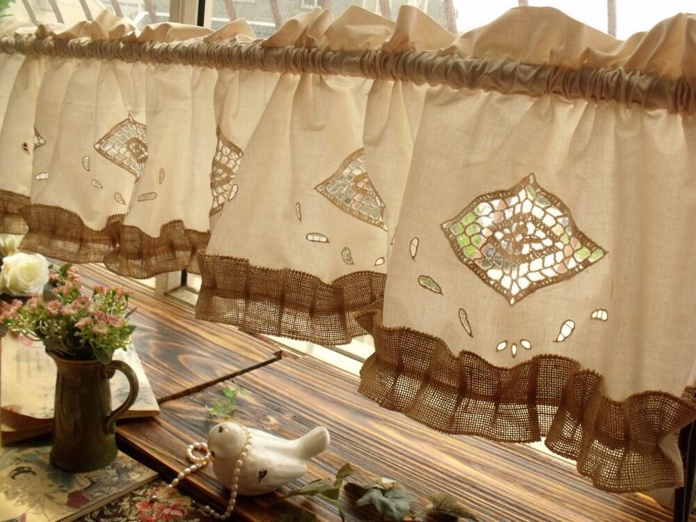 70 shabby chic cottage farmhouse rustic burlap kitchen for Shabby chic farmhouse
