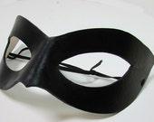 Superhero Mask / Leather Mask / Handmade / Cosplay Mask / Super Hero / Shiny Black Mask / Cat Eye/ Costume Mask/ Adjustable Cord