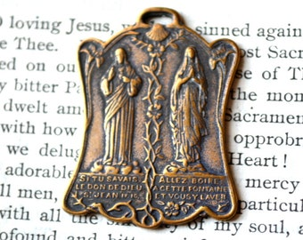 Jesus and Mary Medal - Indulgence Medal - Catholic Medal (M53-1115)
