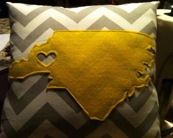 North Carolina, South Carolina or Virginia pillow