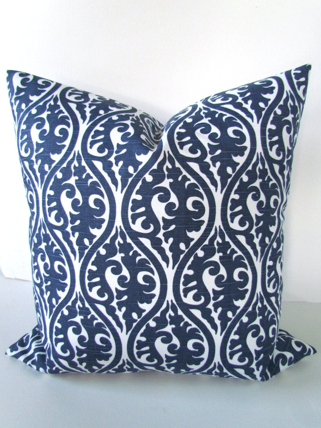 Decorative Pillows In Navy Blue : NAVY BLUE PILLOWS Blue Pillow Covers Blue Decorative Throw