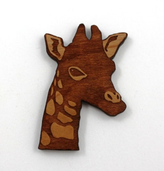 Laser Cut Supplies-1 Piece.Giraffe Charms -Mixed Laser Cut Wood Giraffe -Jewelry Supplies-Little Laser Lab Sustainable Wood Products