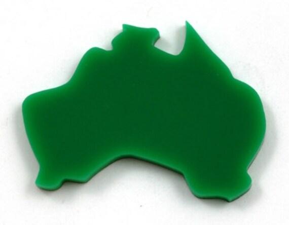 Laser Cut Supplies-8 Pieces. Australia Charm-Laser Cut Acrylic Shape -Little Laser Lab.Online Laser Cutting Australia