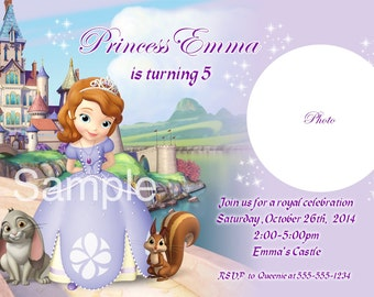 Sofia The First Princess Sofia Invitation For Birthday Party