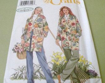 Simplicity 8807 Stitchin' Post Gardening Jacket Pattern S to XL