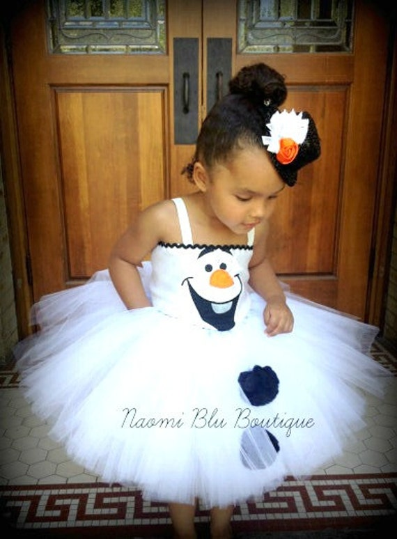 Disney Inspired Olaf the Snowman from Frozen Girls Embroidered Tutu dress. Great for costumes, dress up, pageants, photos, birthday