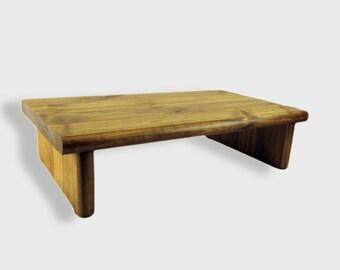 popular items for wooden risers on etsy. Black Bedroom Furniture Sets. Home Design Ideas