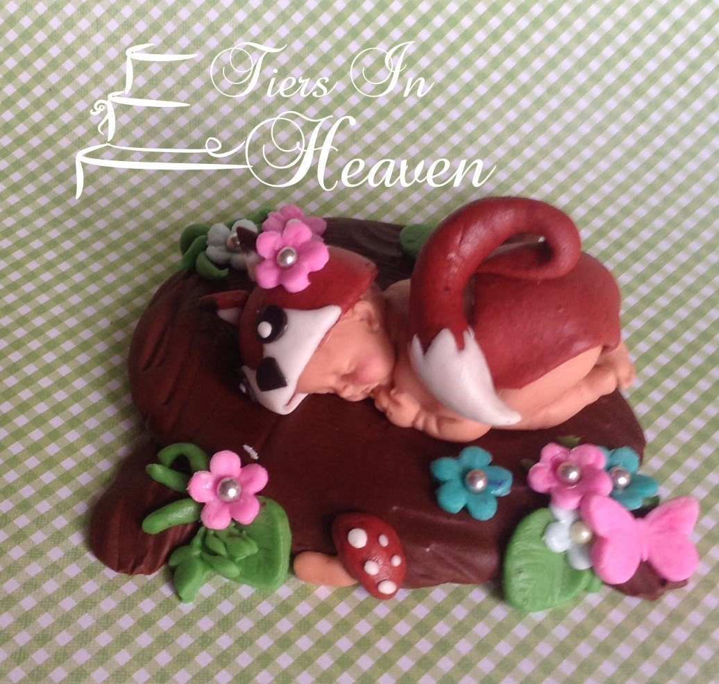 Fox Cake Topper Baby Shower